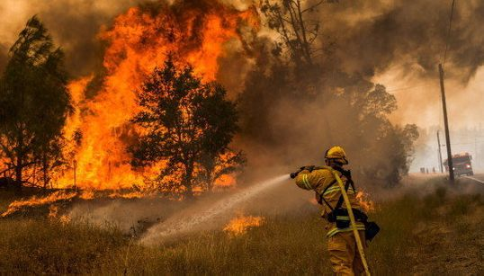 Les impressionnantes photos des incendies ravageant la