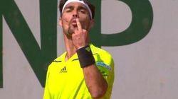 Roland Garros: éliminé par Monfils, Fognini oublie tout