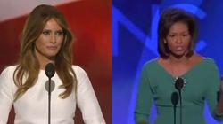 Melania Trump a copié Michelle Obama. Mot pour