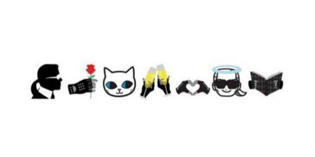 Karl Lagerfeld habille les émoticônes en EmotiKarl avec son