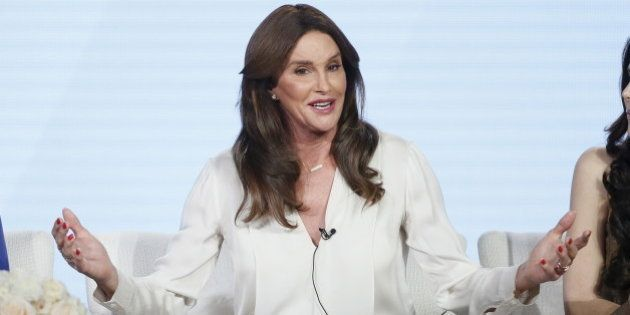 Cast member Caitlyn Jenner participates in a panel for the E! Entertainment Television