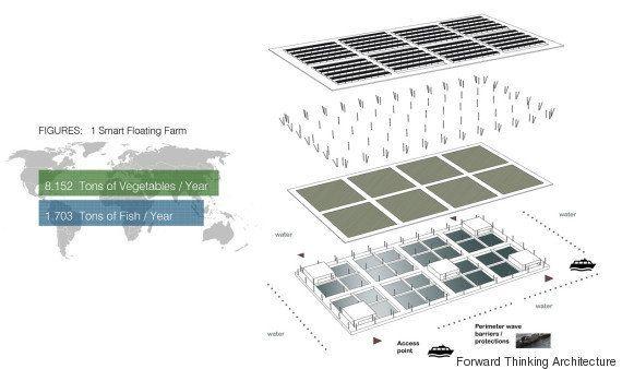 Des fermes solaires flottantes pour répondre à la question de l'alimentation