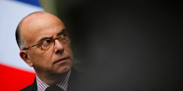 French Interior minister Bernard Cazeneuve attends a news conference after a meeting of the ministerial...