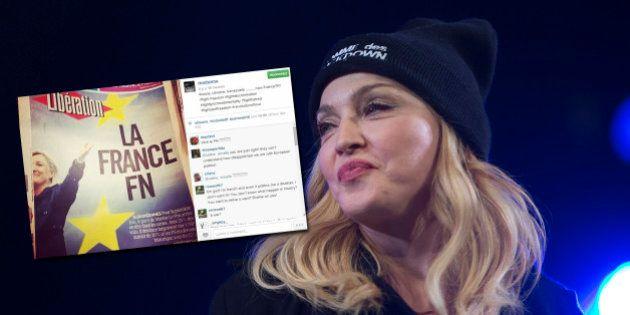PHOTO. Sur Instagram, Madonna s'inquiète de la montée du FN en