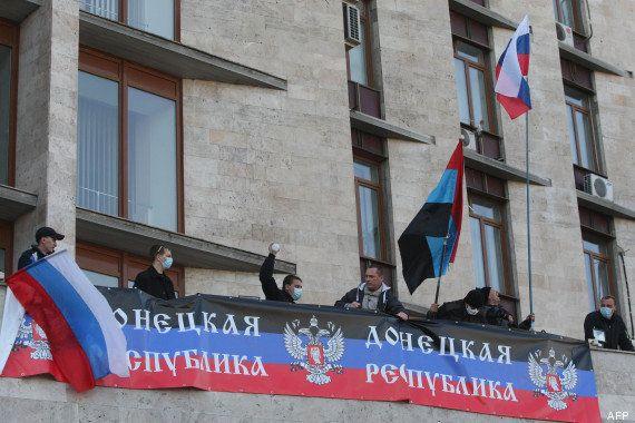 PHOTOS. Ukraine: la tension monte dans l'est, les pro-russes s'emparent de bâtiments