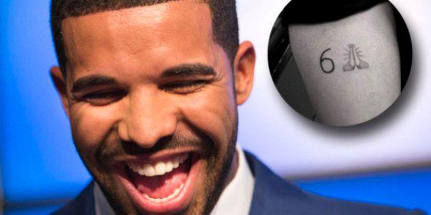 PHOTO. Drake dévoile un tatouage emoji sur son