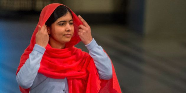 OSLO, NORWAY - DECEMBER 10: Malala Yousafzai. delivers her acceptance speech to the audience during the...