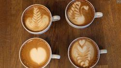 On a réussi àdessiner sur notre café, on vous montre