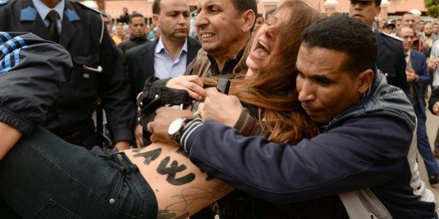 PHOTOS. Des Femen arrêtées au Maroc après une action