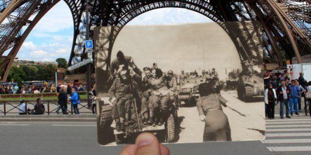 Libération de Paris 1944: des photos de l'époque insérées dans des photos