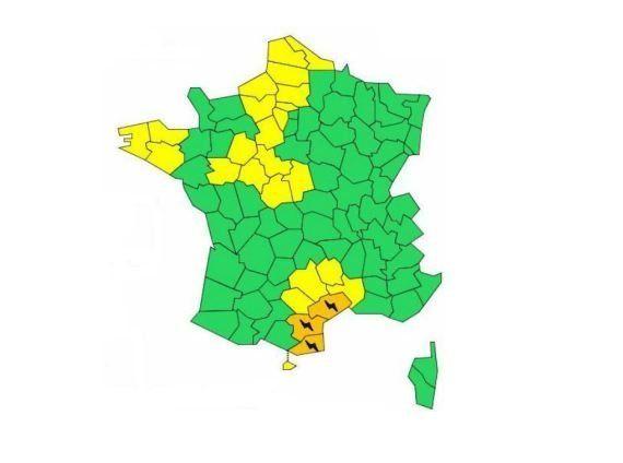 Météo: risques d'inondations dans l'Hérault, l'Aude et les Pyrénées