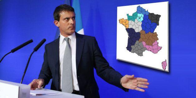 Comment la réforme territoriale annoncée par Manuel Valls pourrait changer la carte de