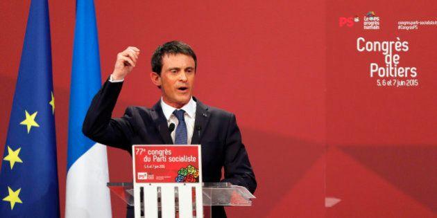 Manuel Valls fait remonter la température au Congrès du PS en ciblant
