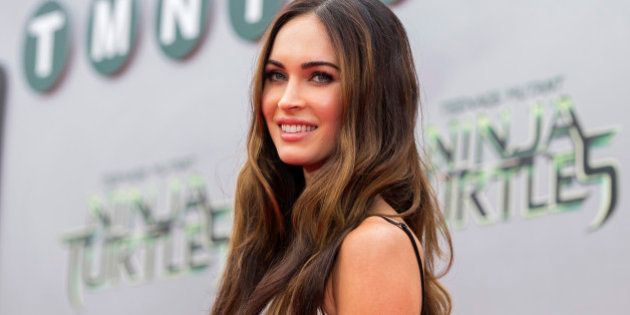 Cast member Megan Fox poses at the premiere
