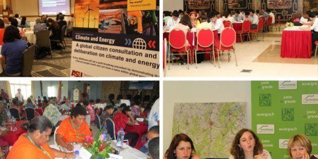 PHOTOS. COP21: le débat citoyen planétaire en images, des Fidji aux