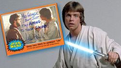 Luke Skywalker a beaucoup d'humour quand il signe un