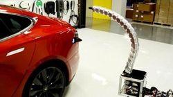 Un serpent de fer capable de recharger votre voiture