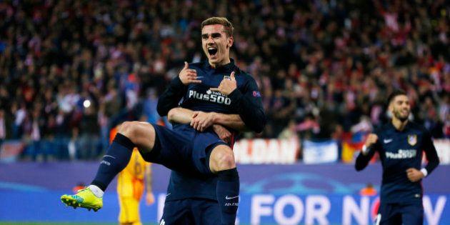 Football Soccer - Atletico Madrid v FC Barcelona - UEFA Champions League Quarter Final Second Leg - Vicente...