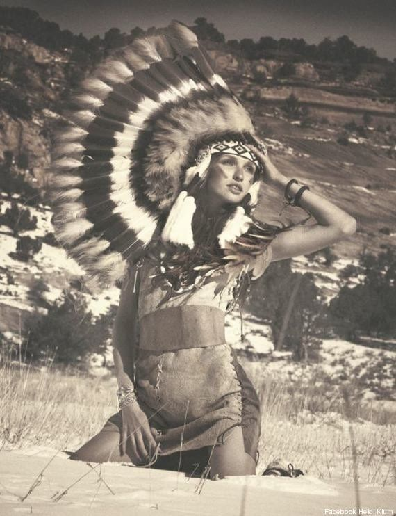 PHOTOS. Heidi Klum accusée de racisme anti-Amérindiens pour une série de clichés sur