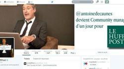 Revivez une journée d'actu avec Antoine de Caunes, community manager d'un