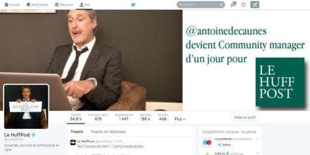 Antoine de Caunes community manager d'un jour: son regard sur l'actualité tout au long de la