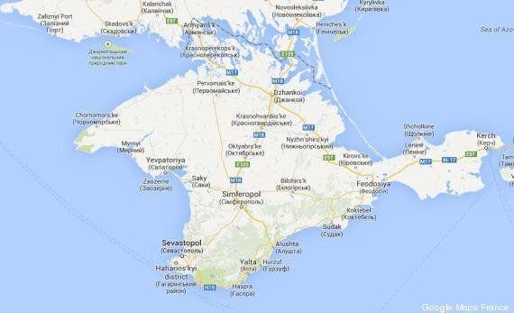 Google Maps intègre la Crimée à la Russie... mais seulement dans sa version