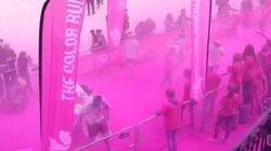 Première Color Run en France: les images de cette course