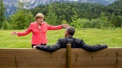 Cette photo d'Obama et Merkel vaut le