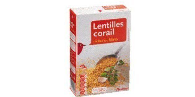 Une ONG demande le retrait de lentilles corail Auchan contaminées aux