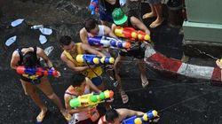Une bataille d'eau géante à Bangkok comme si vous y