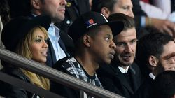 PHOTOS. PSG-FC Barcelone: Sarkozy, Beyoncé, Jay-Z et Beckham présents dans les tribunes du Parc des