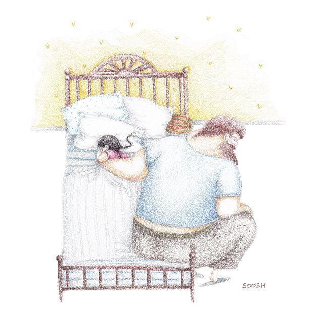 Ces illustrations montrent à quel point la relation entre un père et sa fille peut être