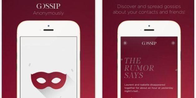 Gossip : l'application anonyme de rumeurs revient après une