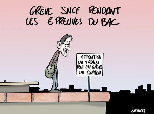Grève SNCF: les candidats au bac vont devoir rester