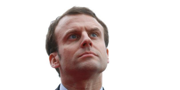 File picture shows French Economy Minister Emmanuel Macron as he attends the inauguration