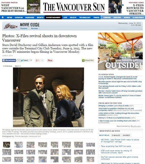 PHOTOS. X-Files saison 10 : les premières images du tournage de la suite à