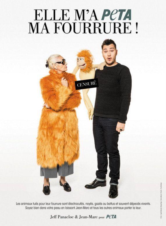 Jeff Panacloc et sa marionnette font campagne contre la