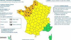 14 départements placés en alerte orange dans