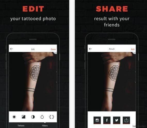 Ink Hunter, l'appli qui permet de tester un tatouage avant de se