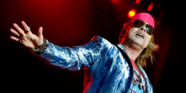 Axl Rose of Guns N' Roses performs during the Sweden Rock Festival 2010 in Solvesborg, Sweden, June 12,...