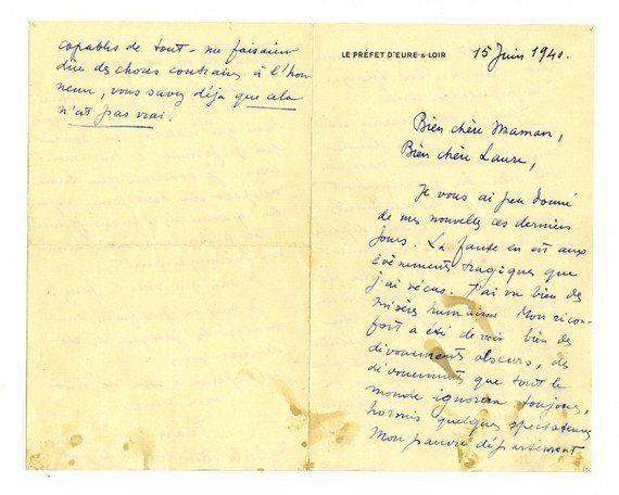 Lettre De Jean Moulin à Sa Soeur Et Sa Mère Si Simple De