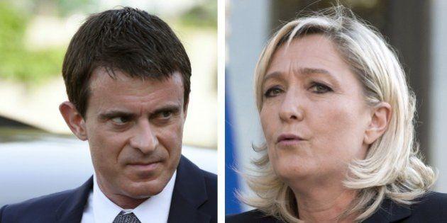 Manuel Valls fait du Marine Le Pen, c'est elle qui le