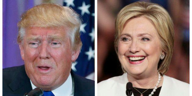 A combination photo shows Republican U.S. presidential candidate Donald Trump (L) in Palm Beach, Florida...