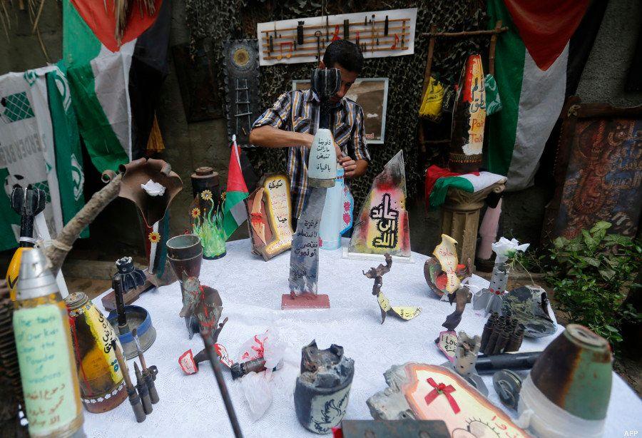 PHOTOS. Gaza: des Palestiniens transforment des engins de mort en œuvres