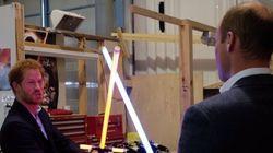 Harry et William ont rencontré Chewbacca et BB-8 sur le tournage de