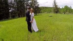 Ils voulaient filmer leur mariage par drone, c'est