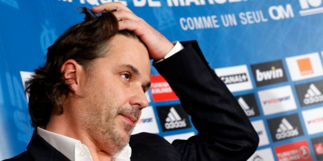 Olympique Marseille's president Vincent Labrune attends a news conference in Marseille December 9, 2013....