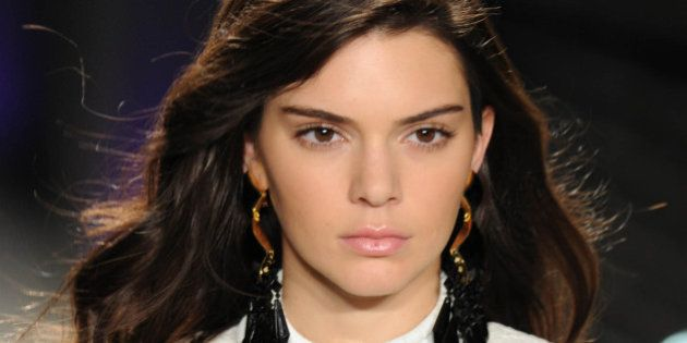 Photo by: GWR/STAR MAX/IPx 10/20/15 Kendall Jenner at Balmain's H&M Fashion Show.