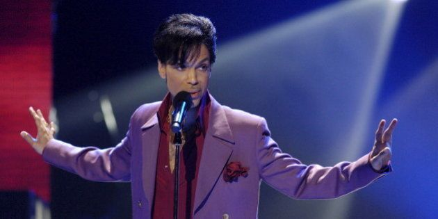 Singer Prince performs in a surprise appearance on