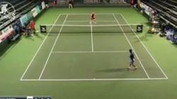 Regardez ce point hallucinant d'un tennisman